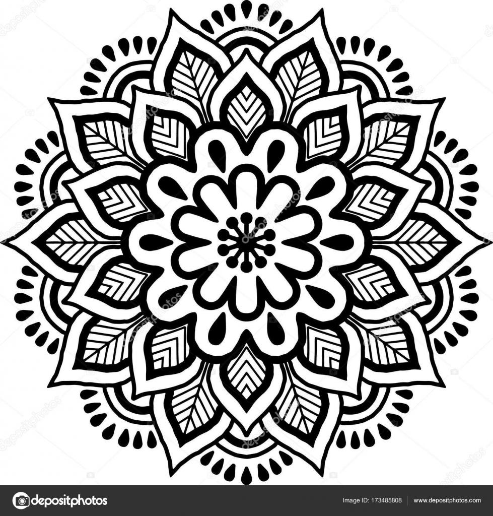mandala muster schwarz wei stockvektor tamsamtam 173485808. Black Bedroom Furniture Sets. Home Design Ideas