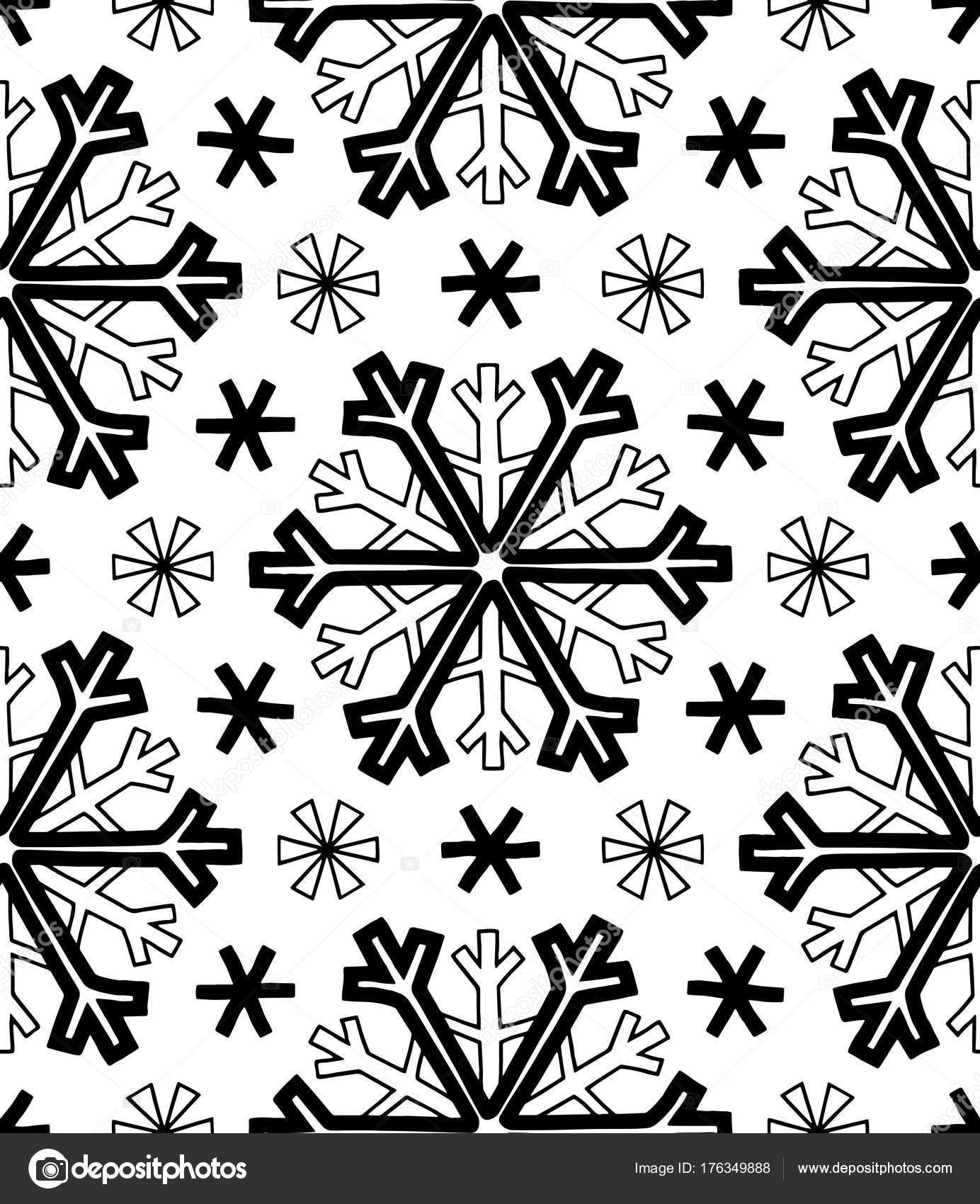 Resumen los patrones de copos de nieve — Vector de stock © TAMSAMTAM ...