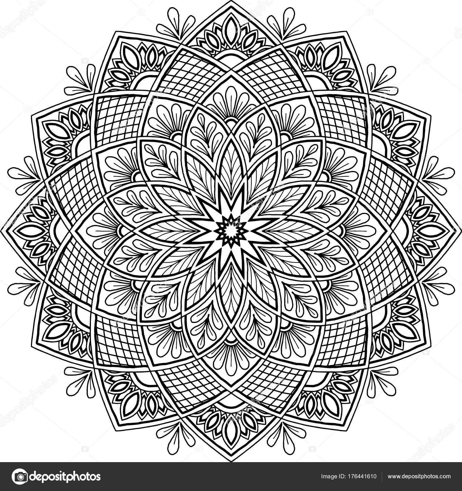 Figure Mandala For Coloring Stock Vector C Tamsamtam 176441610