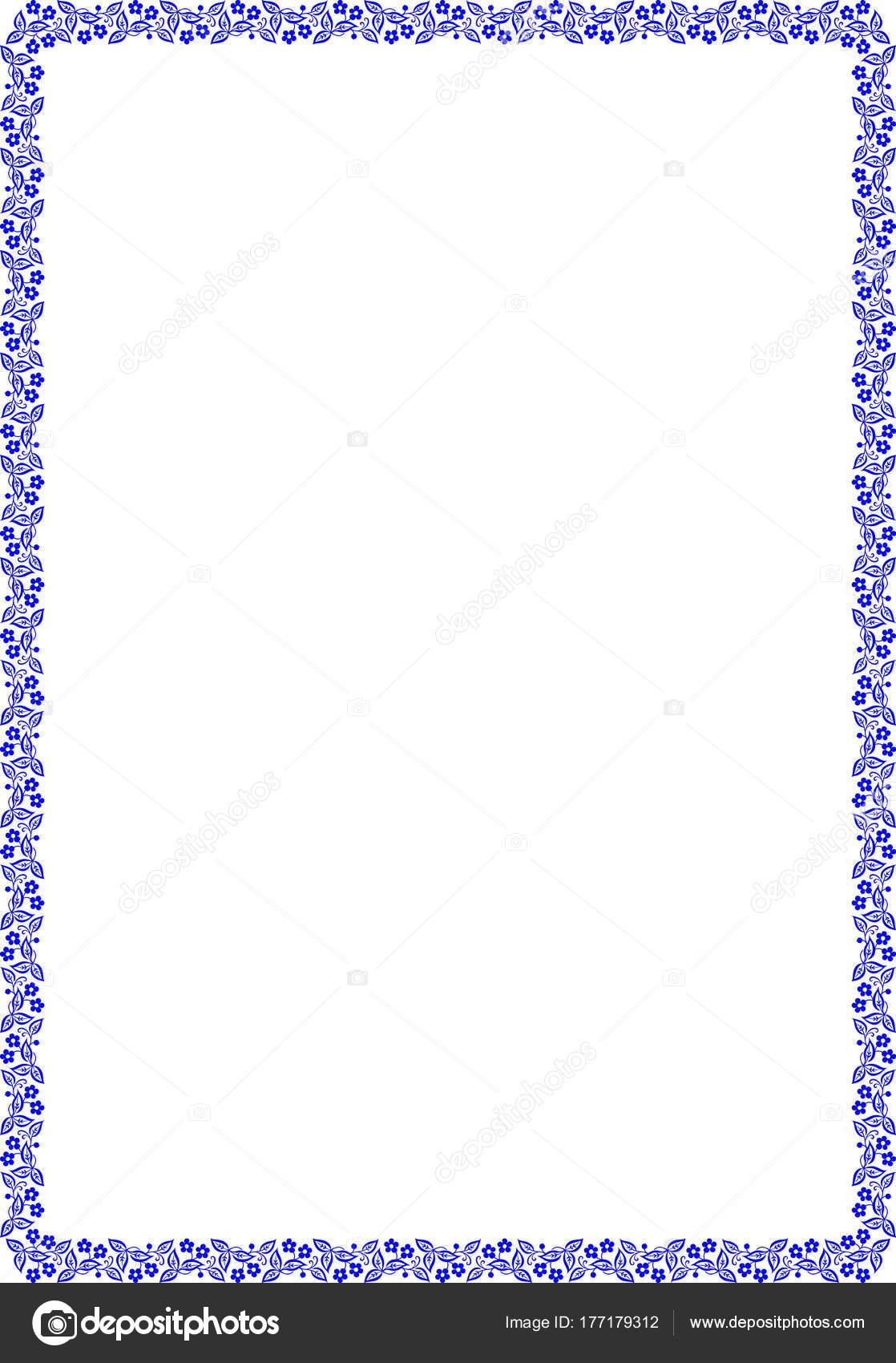 Rahmen für A4 Format — Stockvektor © TAMSAMTAM #177179312