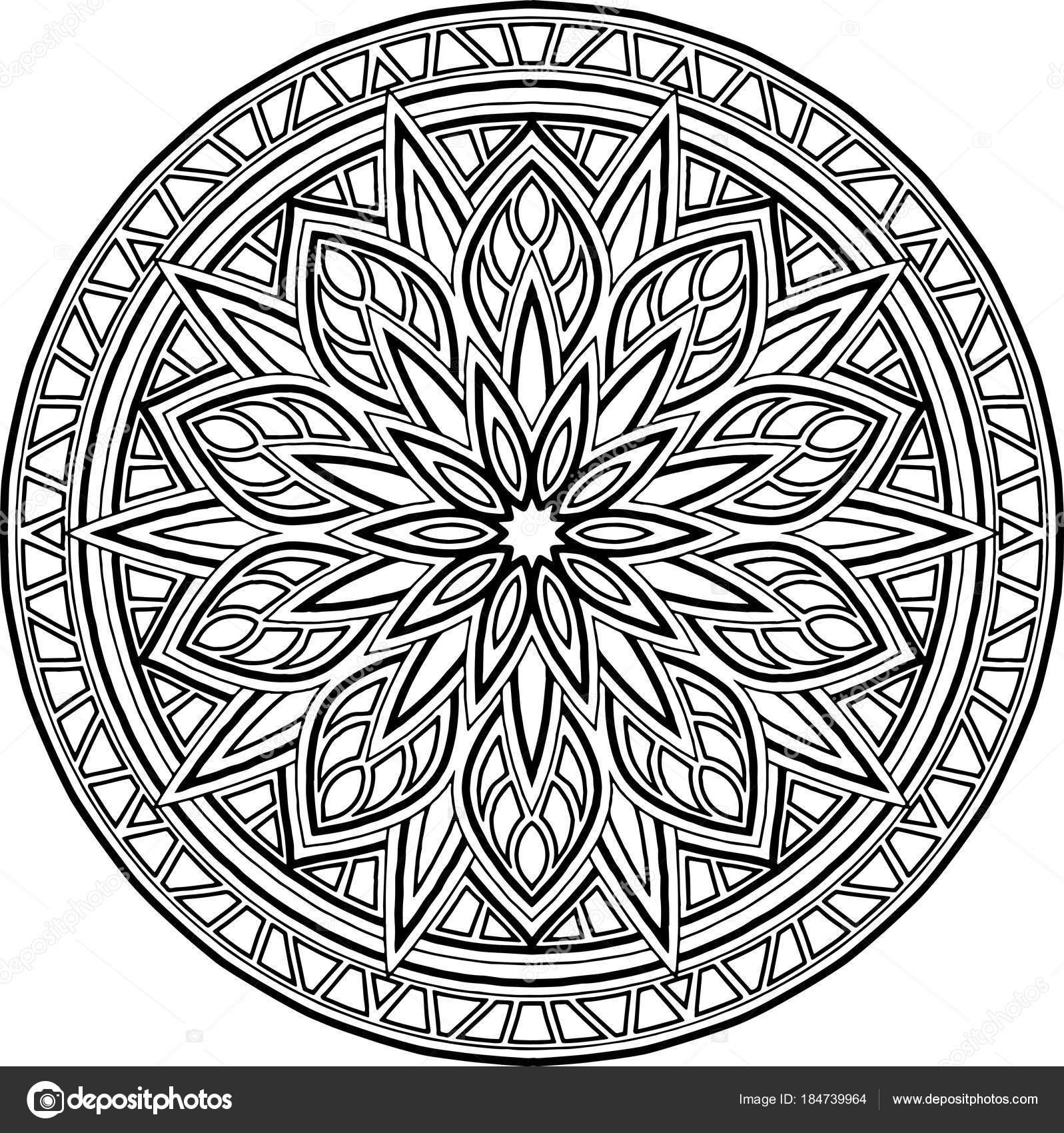 Abbildung Mandala zum Ausmalen — Stockvektor © TAMSAMTAM #184739964
