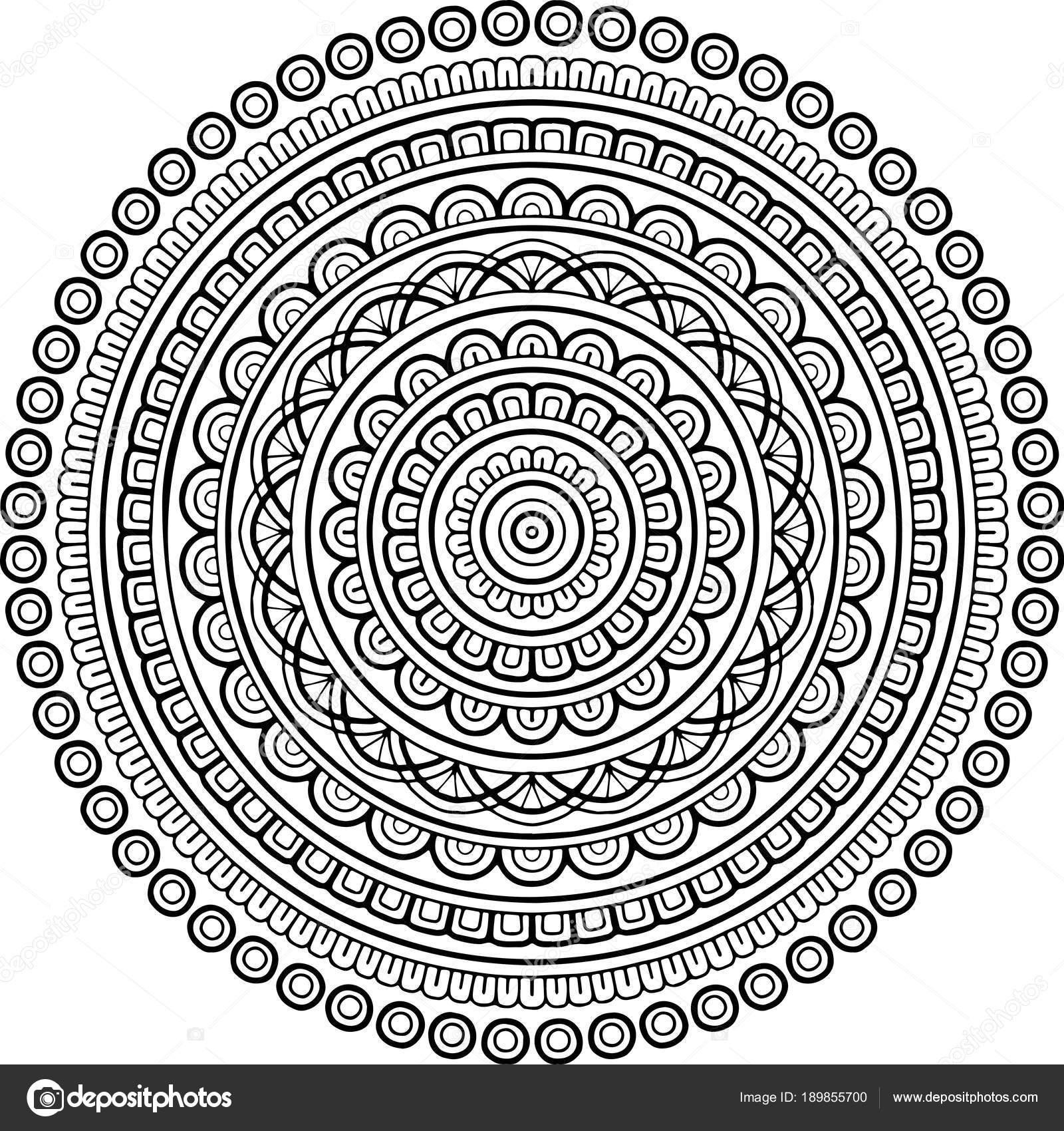 Cijfers Mandala Kleurplaten.Cijfer Mandala Om In Te Kleuren Stockvector C Tamsamtam 189855700