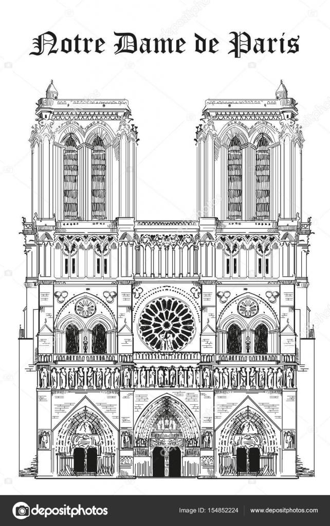 Cathédrale Notre Dame Image Vectorielle Alinart 154852224