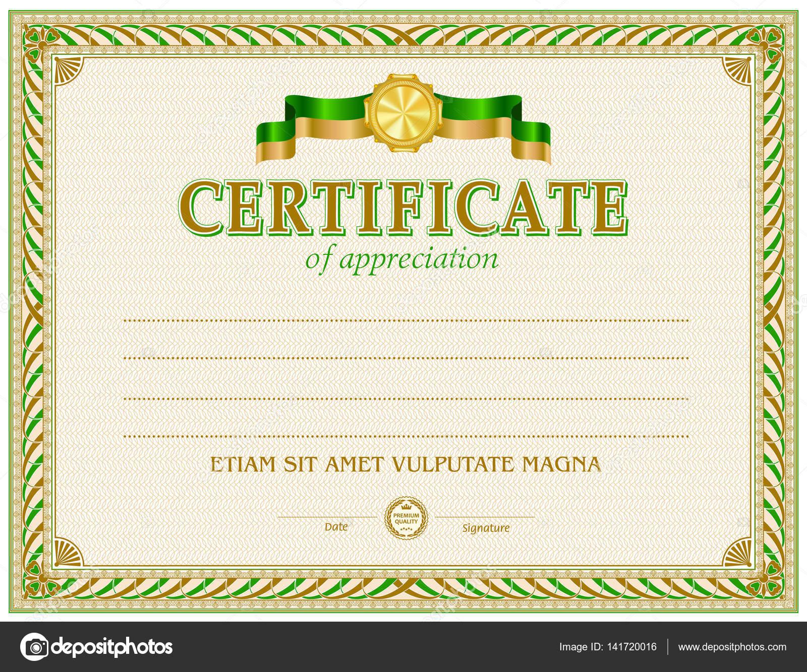 Zertifikat leere Vorlage — Stockvektor © tedgun #141720016