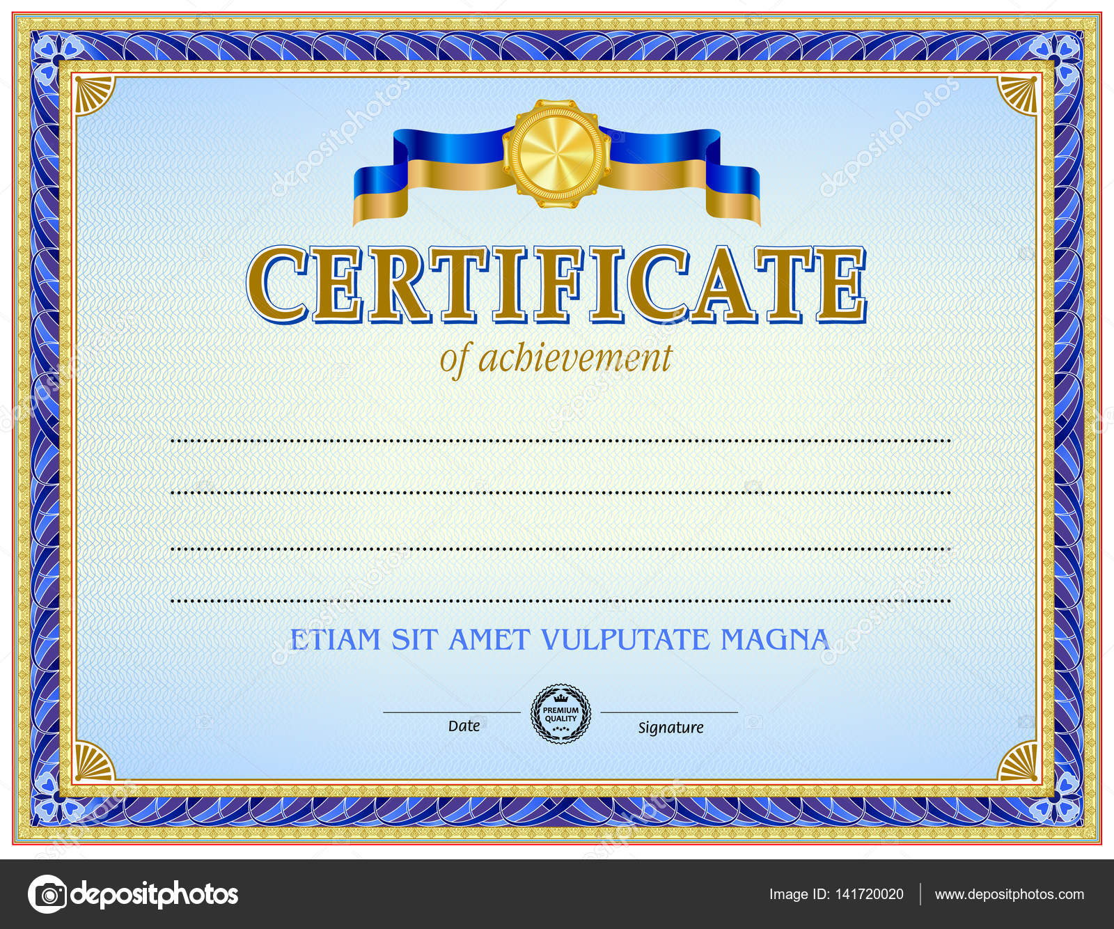 Zertifikat leere Vorlage — Stockvektor © tedgun #141720020