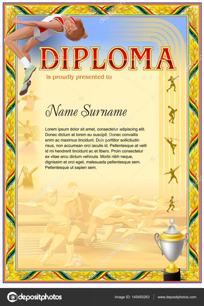 sport diploma template stock vector © tedgun  sport diploma template stock vector 145493263