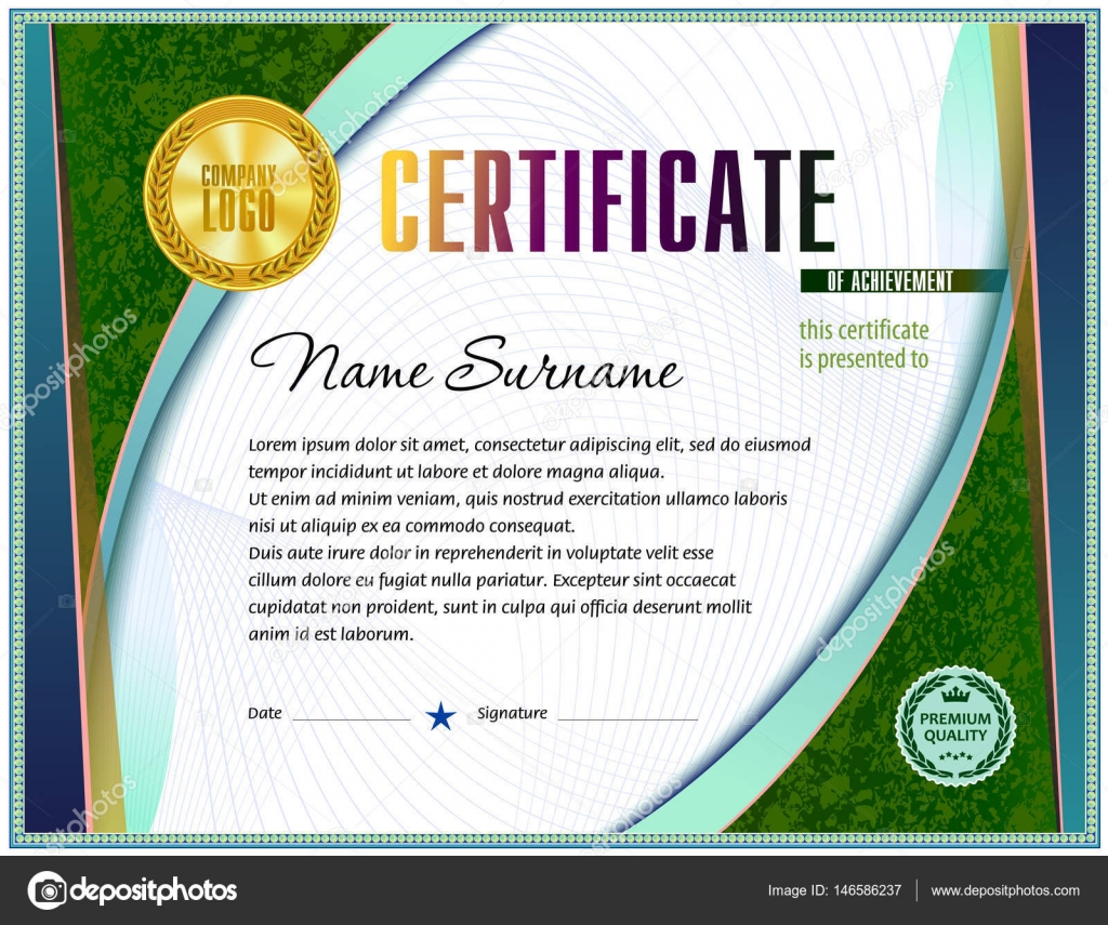 Ausgezeichnet Leere Zertifikatvorlage Bilder ...