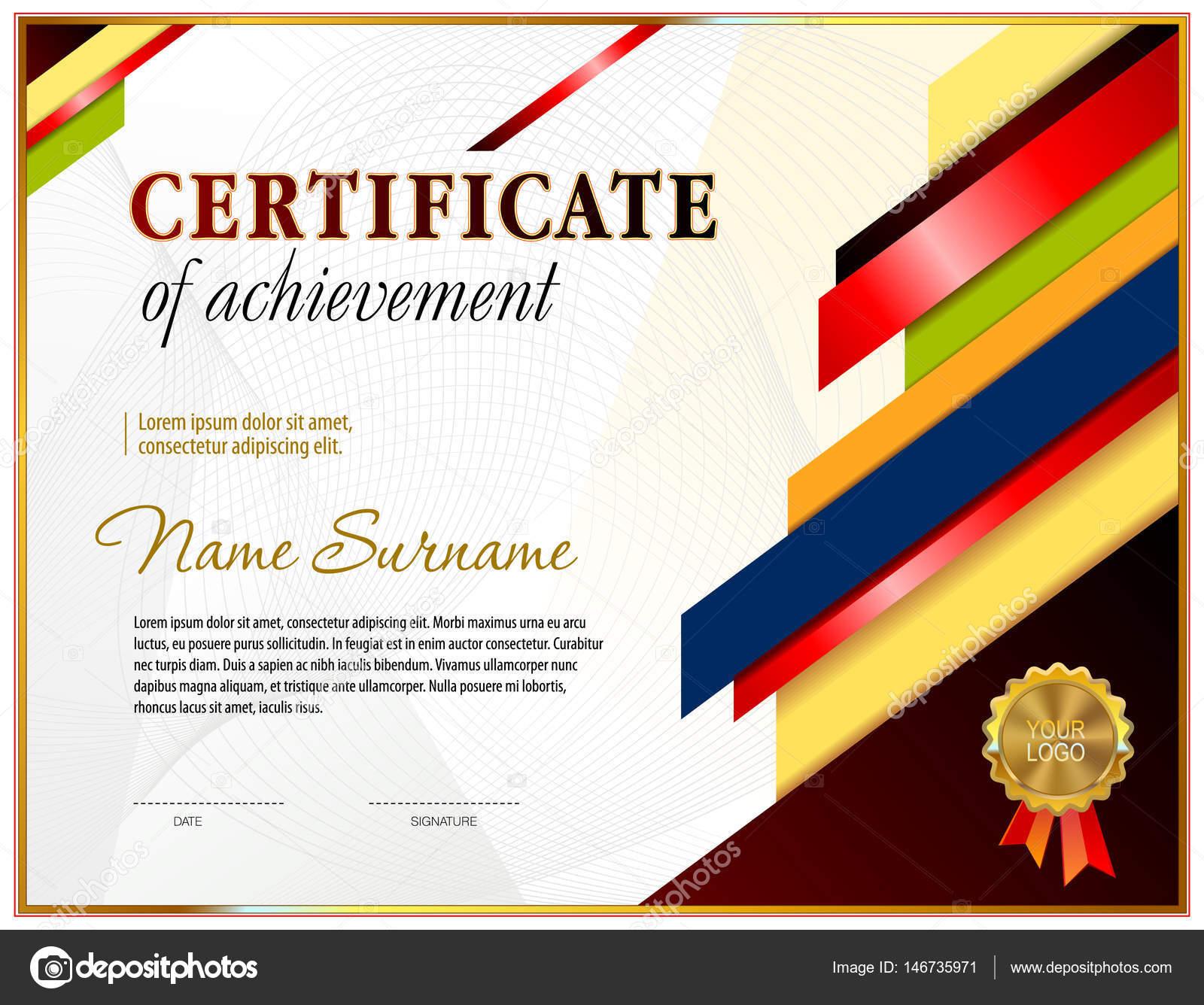 Zertifikat leere Vorlage — Stockvektor © tedgun #146735971