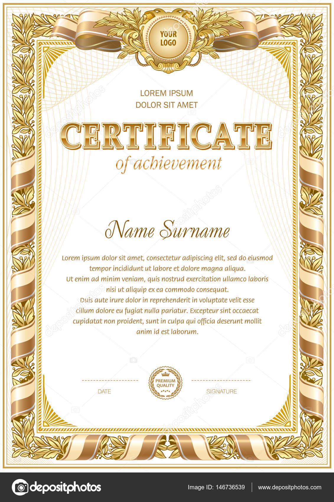 Zertifikat leere Vorlage — Stockvektor © tedgun #146736539