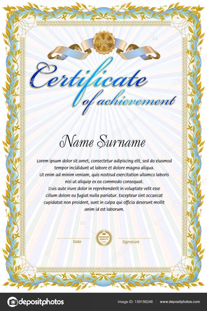 Certificate Blank Template Stock Vector Tedgun 159156246