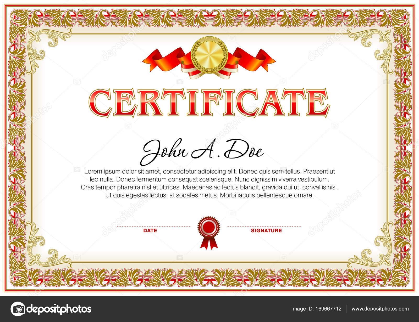 Wunderbar Leere Zertifikat Vorlage Zeitgenössisch - Entry Level ...