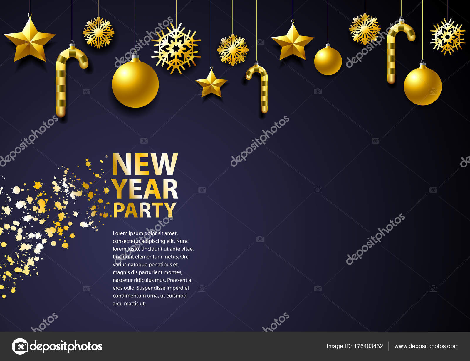 new year background template new year christmas holiday new year stock vector
