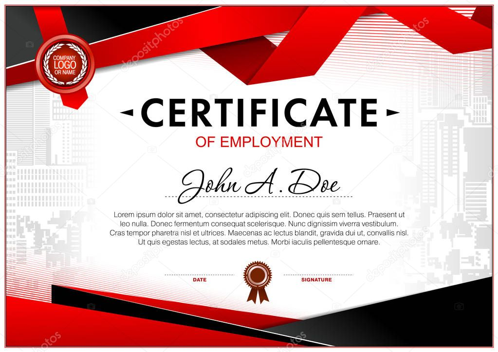 certificate blank template design can use award other