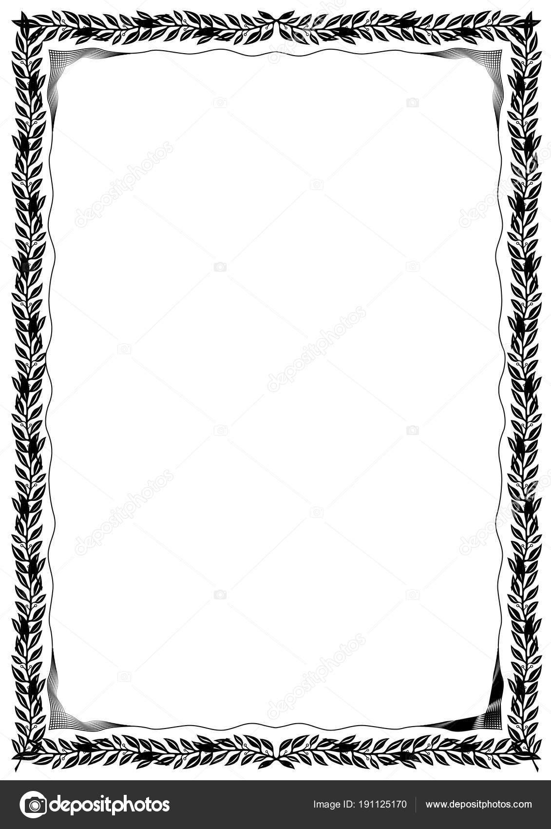 Diseño Frontera Delicado Marco Blanco Negro Para Tarjetas Otros ...