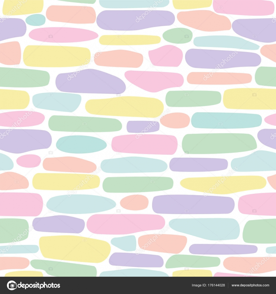 Seamless Repeating Pattern With Brush Strokes In Pastel