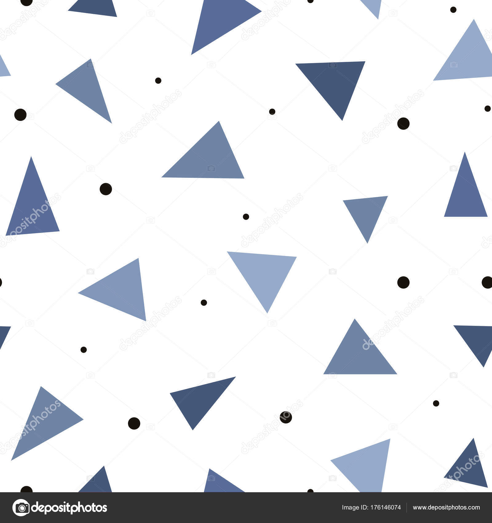 Geometric abstract seamless pattern in a flat style Cover with a