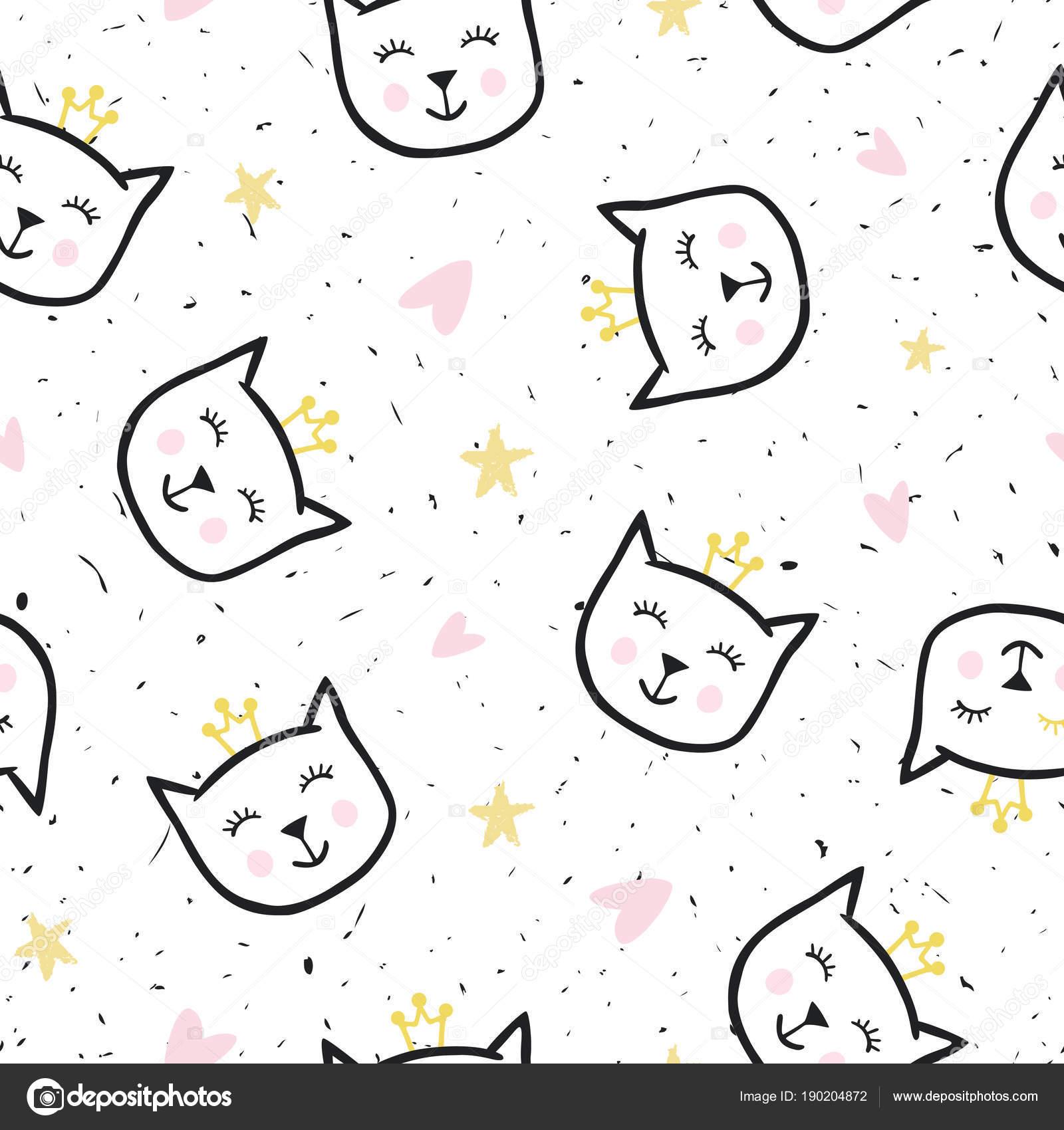 Papel Deco Para Imprimir Bebe Textura Transparente Con Gatos