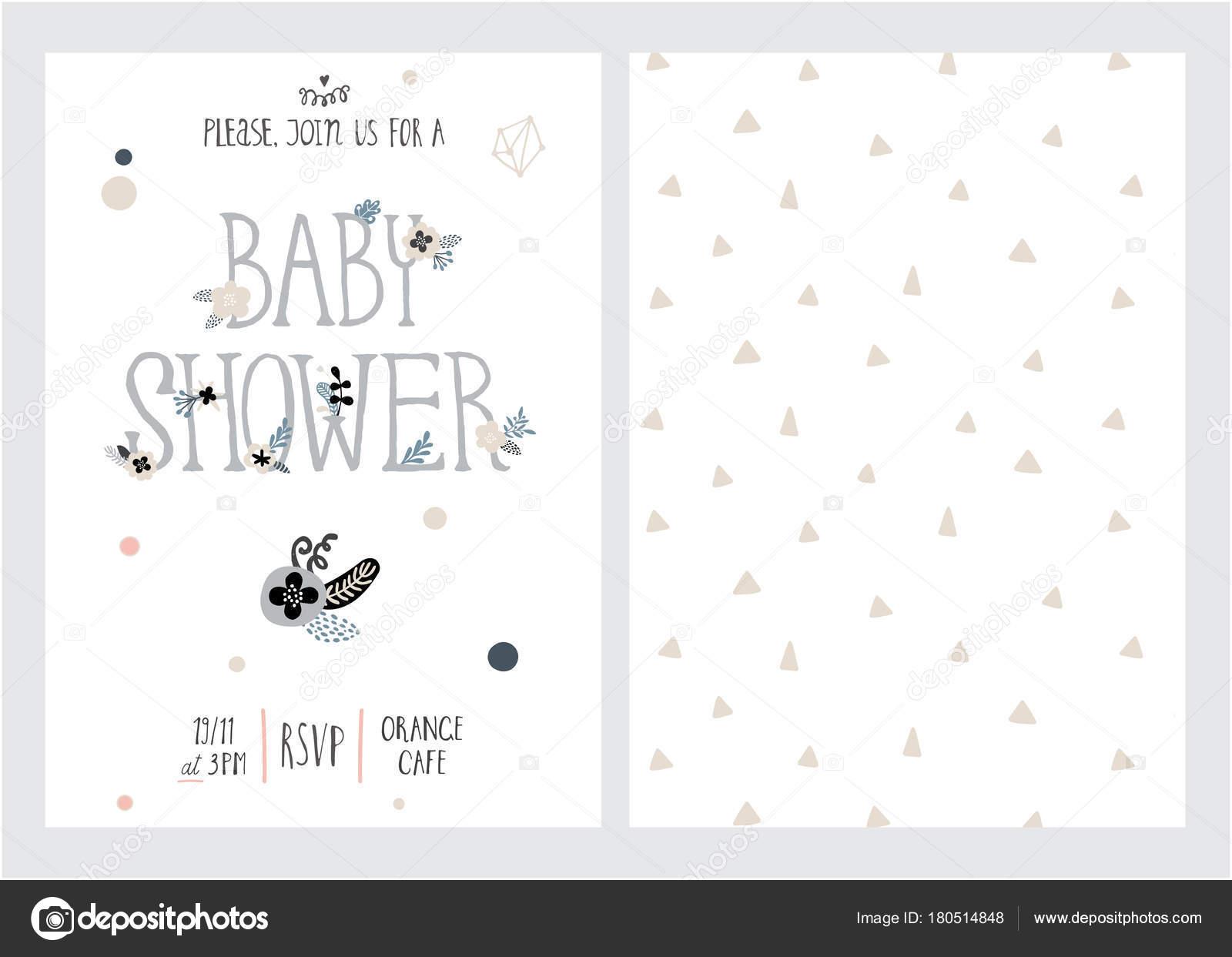 Baby-Dusche-Vektor-Vorlage — Stockvektor © judeep #180514848