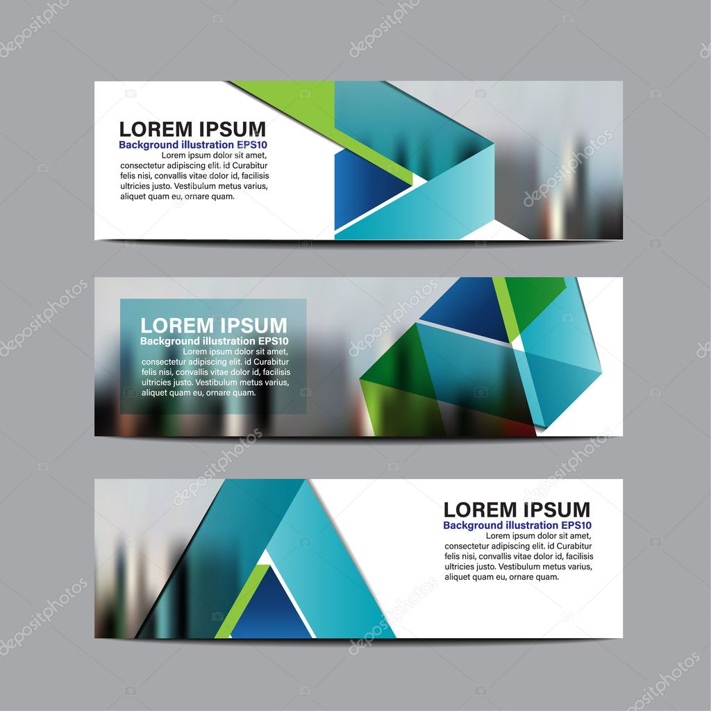 collection business banner design vector design background