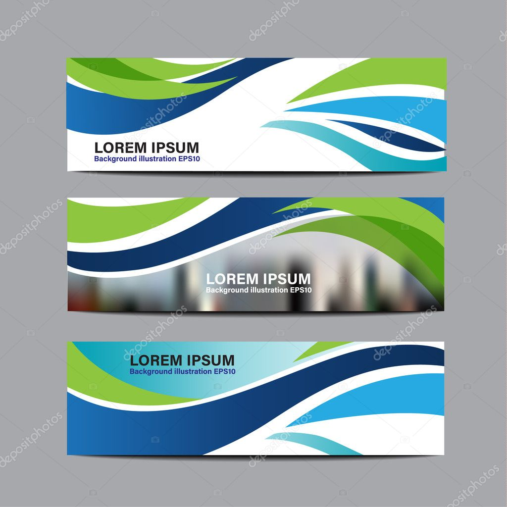 collection business banner design vector design background template