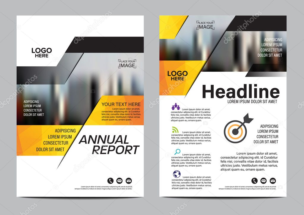 Modelo de design de layout de folheto capa de relat rio for Architecture agency