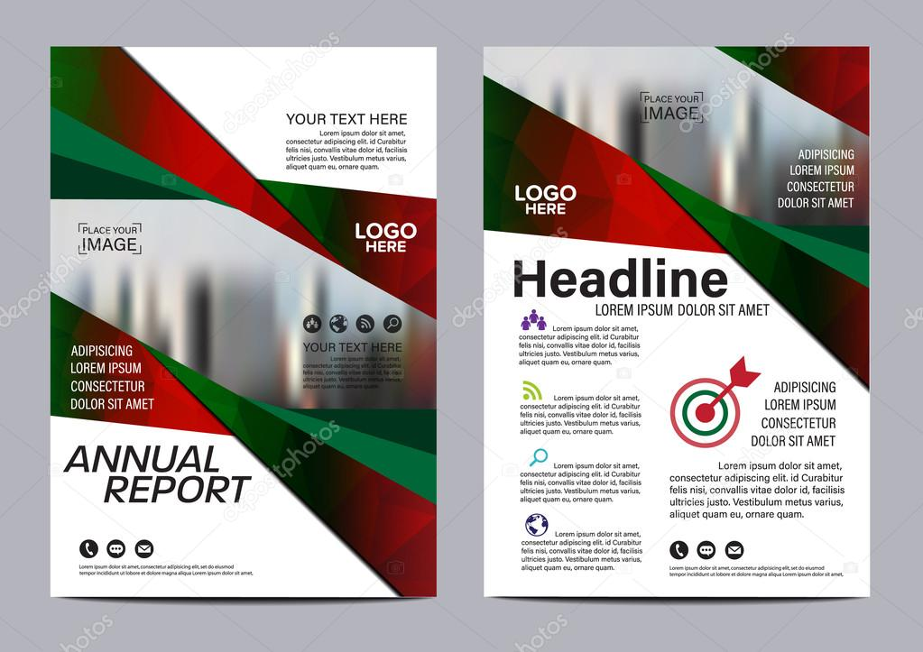 Christmas Brochure Layout Design Template Annual Report Flyer