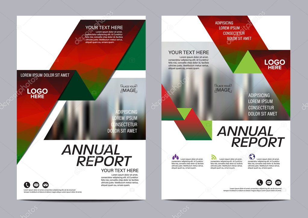 Christmas Brochure Layout design template. Annual Report Flyer ...