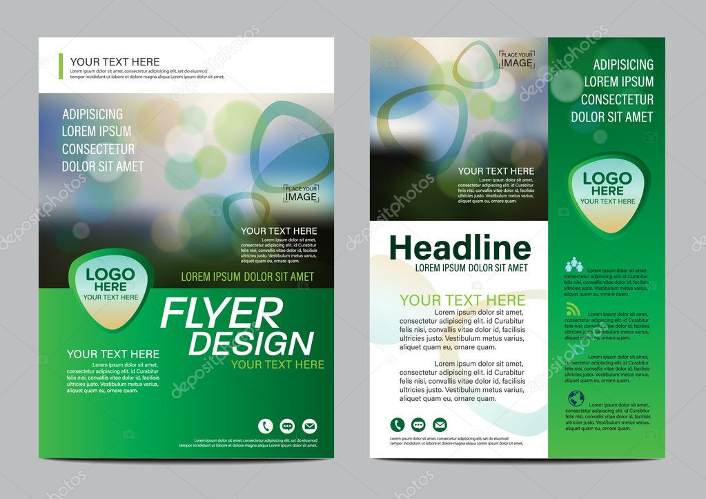 green nature brochure layout design template annual report flyer leaflet cover presentation modern background
