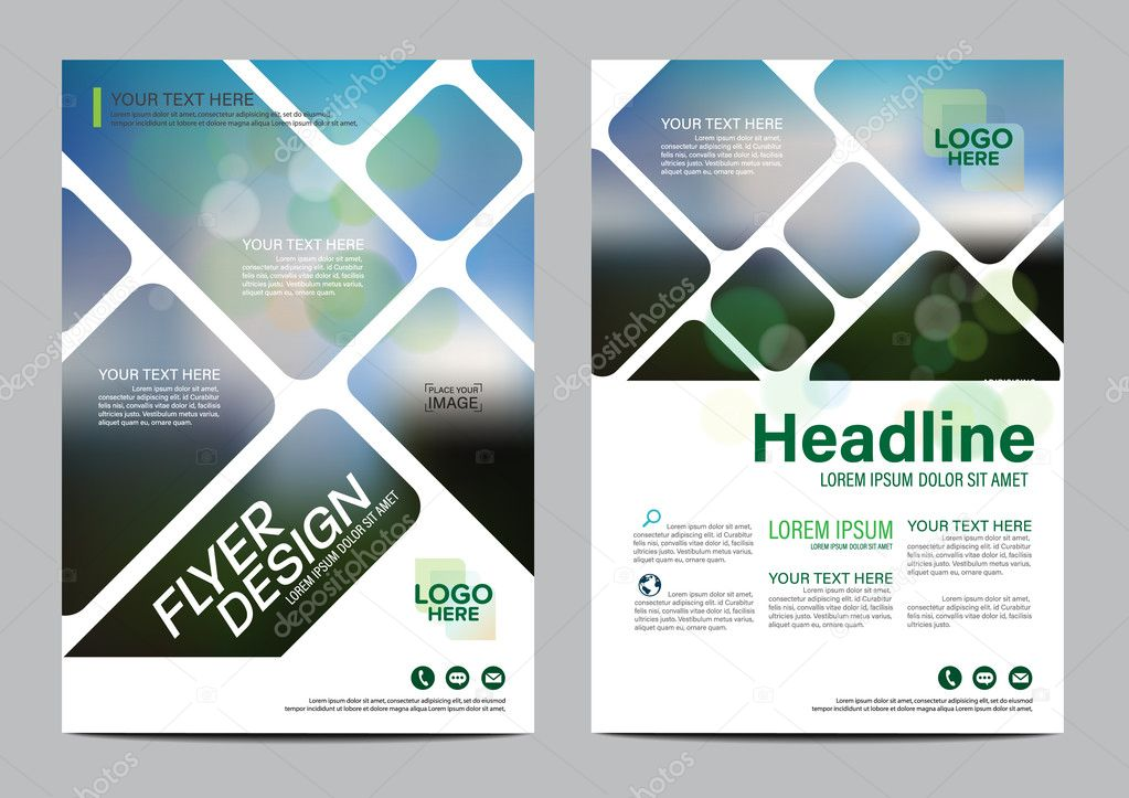 green nature brochure layout design template annual report flyer