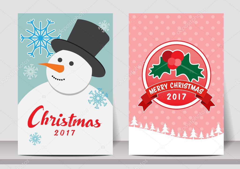 Feliz Navidad feliz año nuevo tipografía flyer plantilla con letras ...