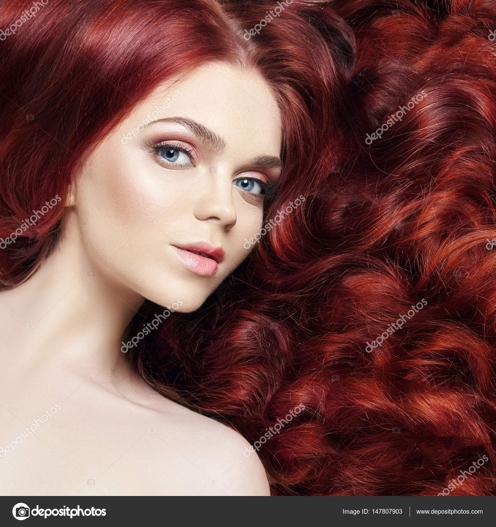 Girls with hair Nude dyed red