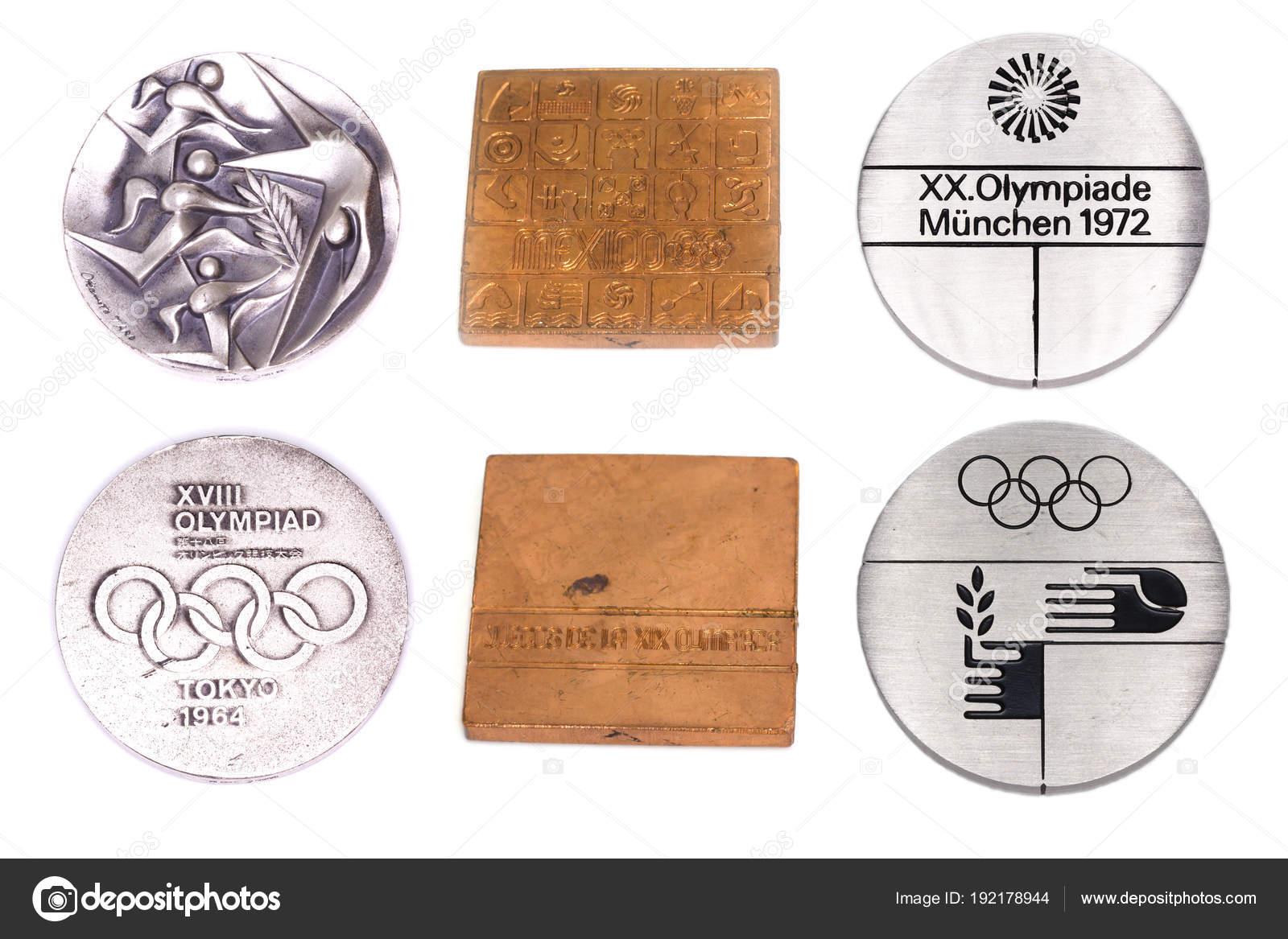 Juegos Olimpicos 1968 Medallas Coleccion De Participacion Juegos