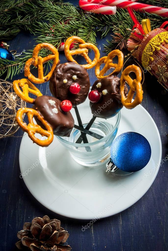 Lustige und gesunde Weihnachten Mahlzeit für die Kinder — Stockfoto ...