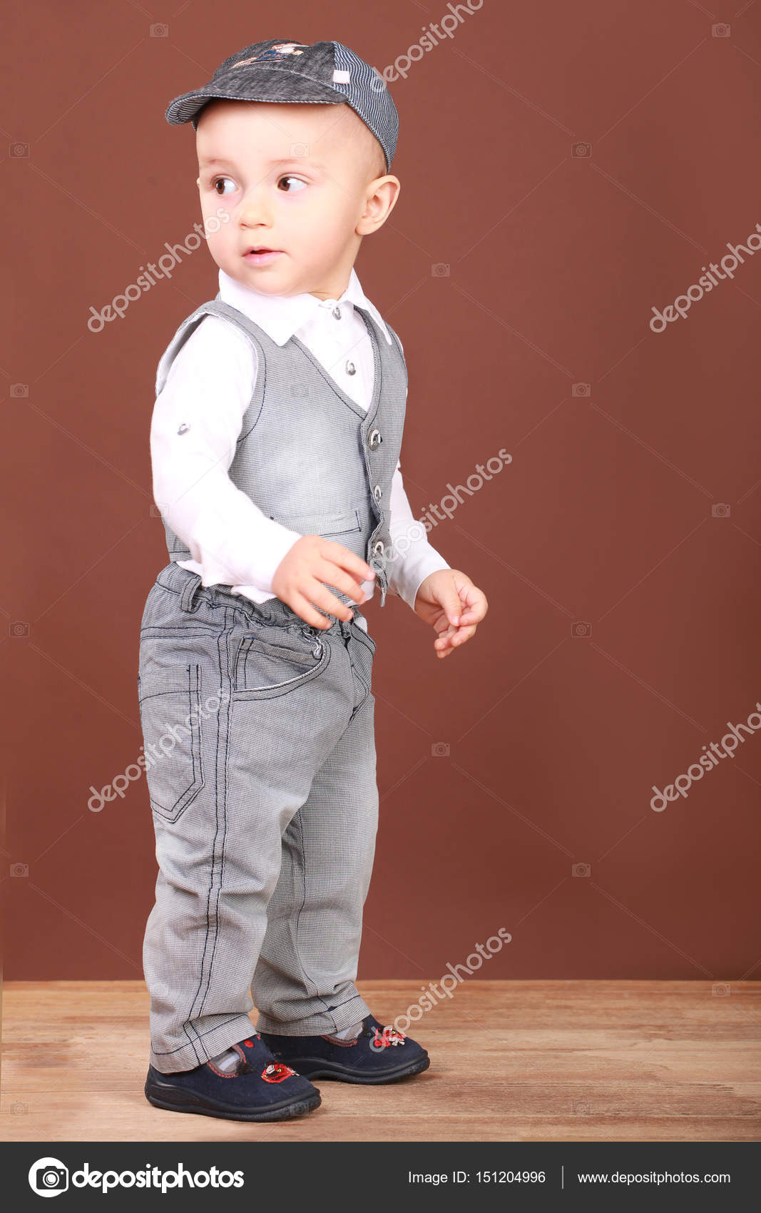 cute babe in denim suit — stock photo © xzgorik #151204996