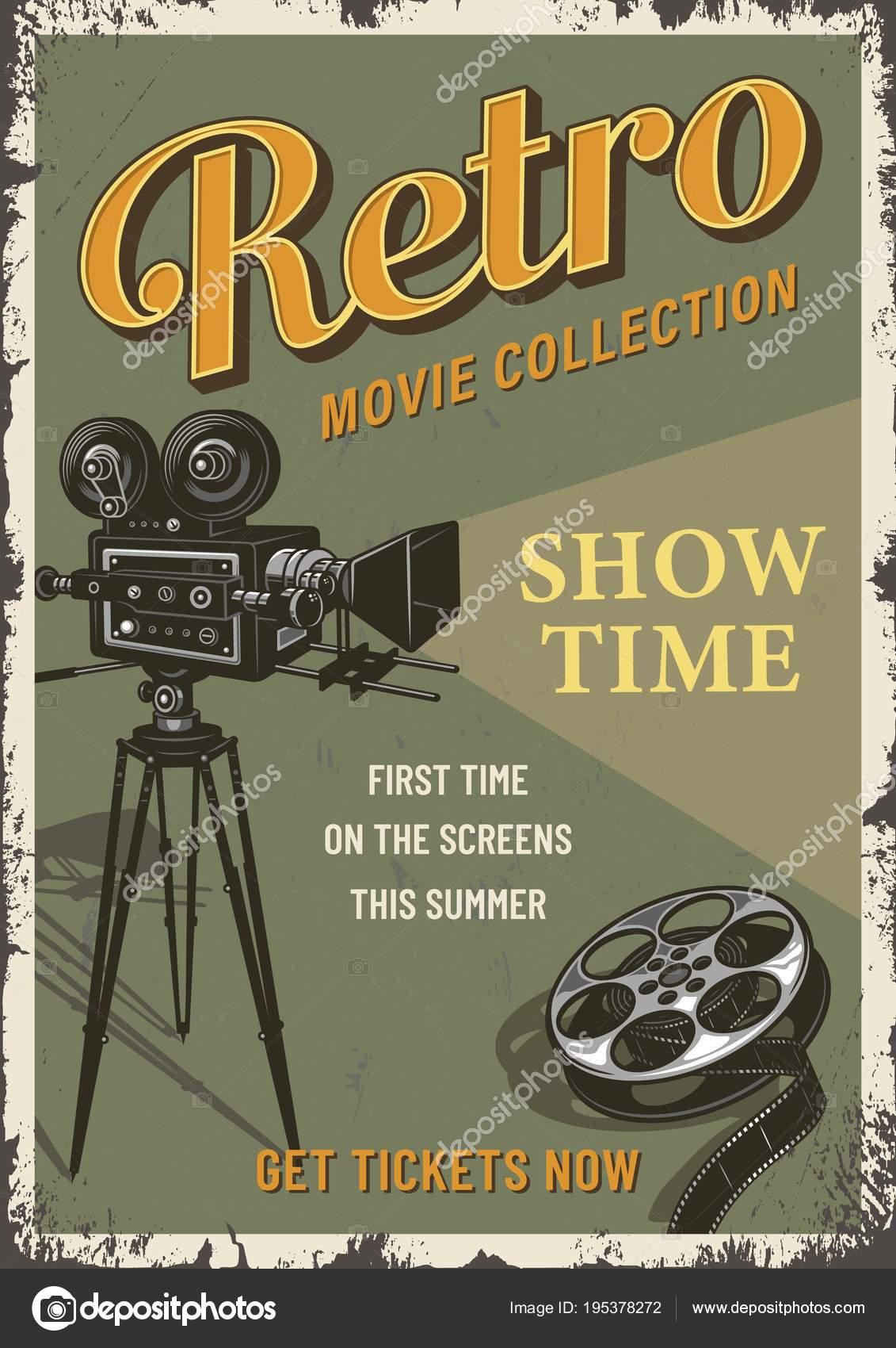 Kino Film Festival Plakat Vorlage — Stockvektor © IMOGI #195378272