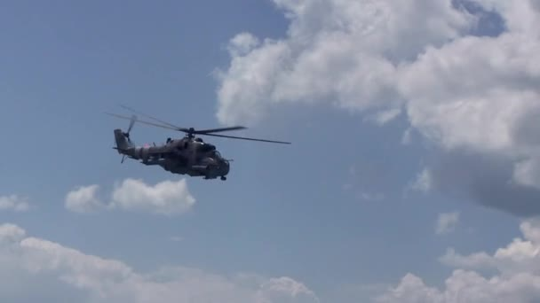 Military Helicopter Flies In Sky