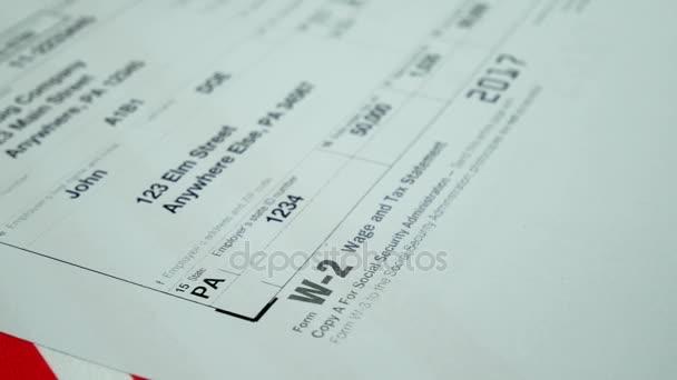 Daňový formulář pro člověka osobu W2