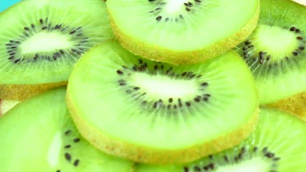 Slice of fresh kiwi fruit