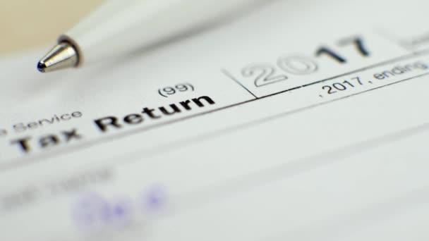 Jednotlivé daňové přiznání formulář 1040 v roce 2017