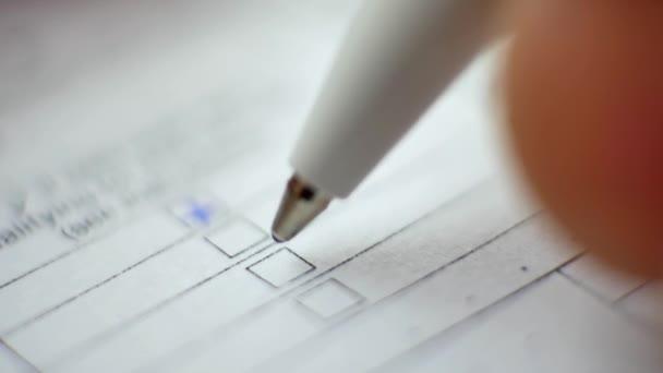 Stift-Abstimmungsfeld in leerer Form