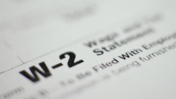W-2 daňový formulář