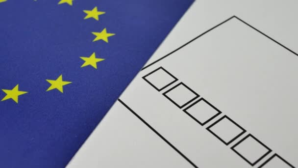 Voting paper ballot in EU