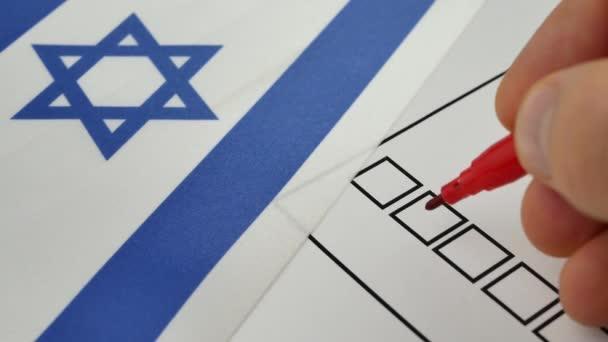 Hlasování papíru hlasování v Izraeli