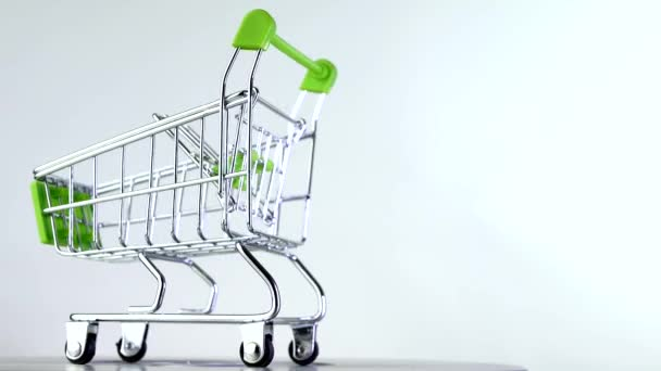Shopping cart or market basket isoleted on white background. Concept of online store