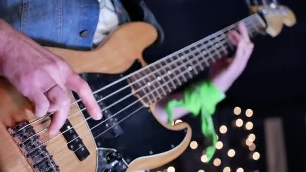 Man lead guitarist playing electrical guitar