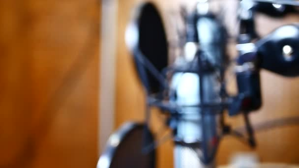 Radio microphone at studio