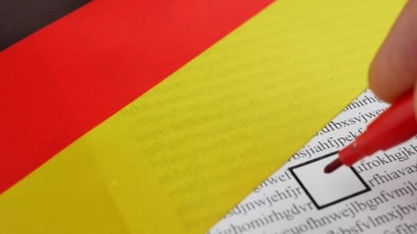 Hlasování papíru hlasování v Německu