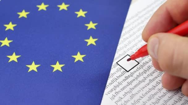 Hlasování papíru hlasování v Eu