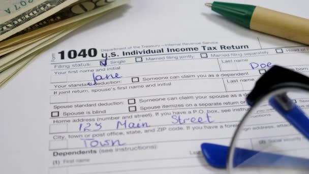 Assessment Income US 1040 Tax Return Form 2019