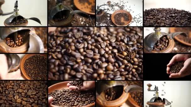 Mlýnek na kávu s aromatickými praženými kávovými zrny
